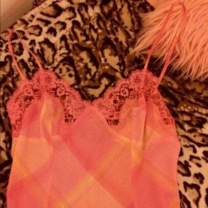 Victoria's Secret pink and yellow slip